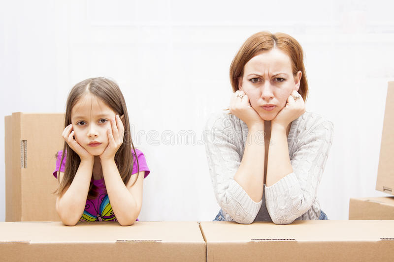Family in move royalty free stock photo