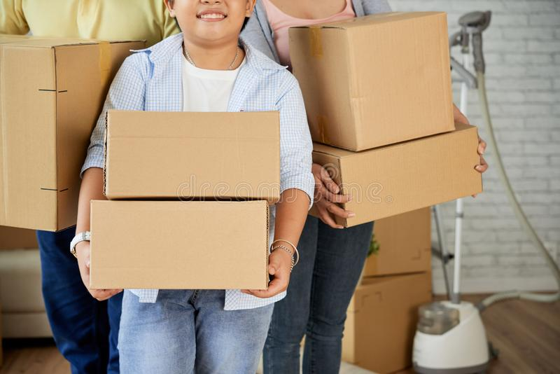 Family moving in royalty free stock image