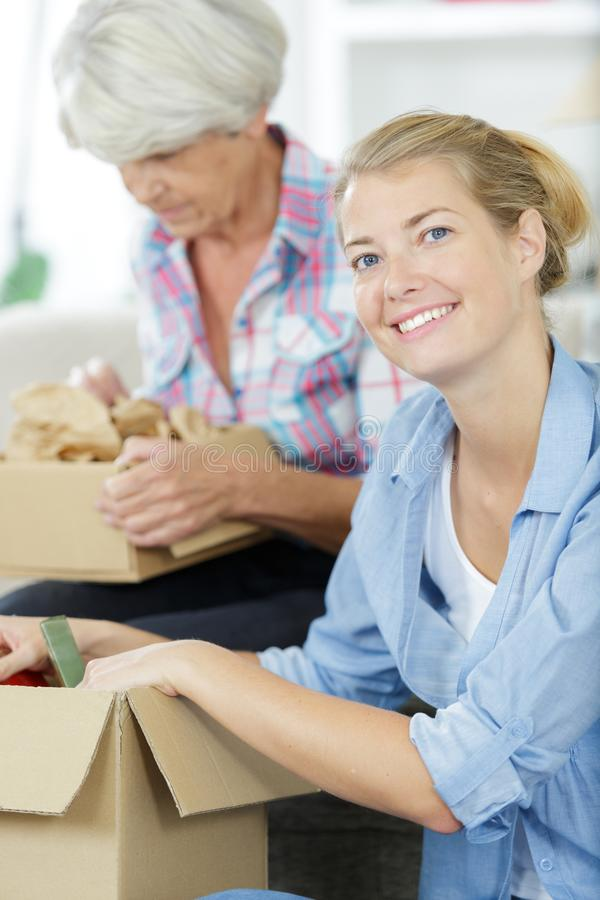 Family moving out. A family is moving out royalty free stock image