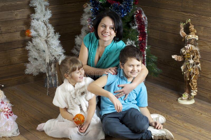 Family New Year eve stock photos