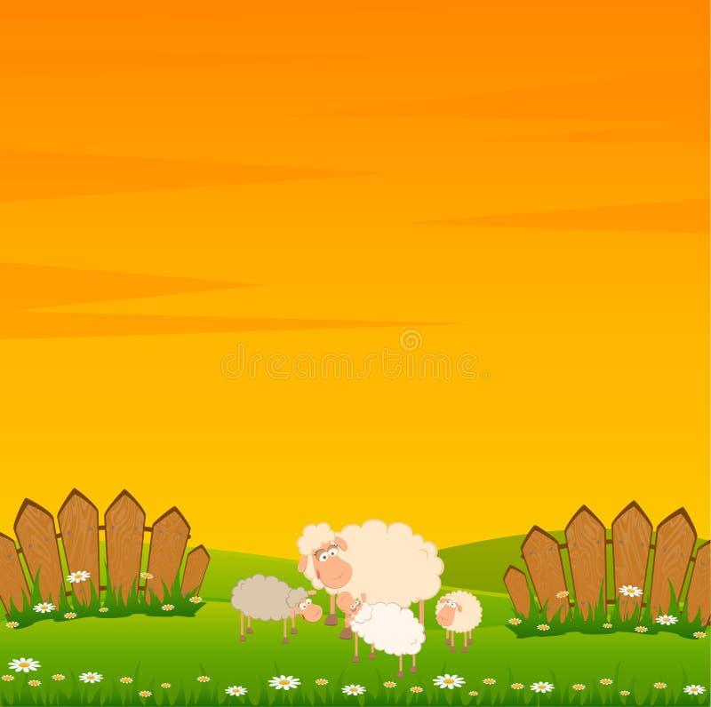 Free Family Of Cartoon Sheep Stock Image - 15318881