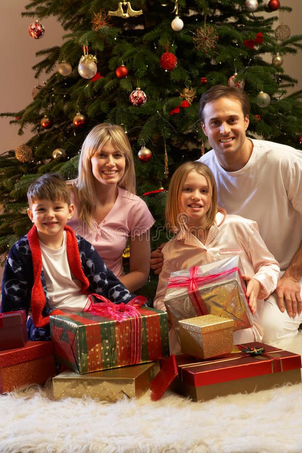 Download Family Opening Christmas Presents Stock Image - Image: 18746833