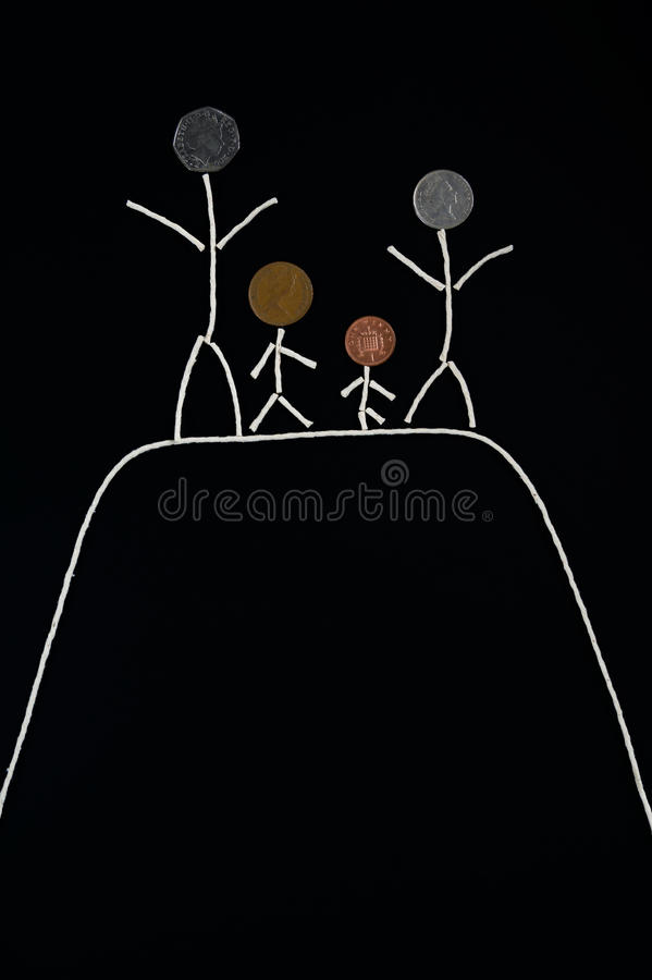 Family outdoor quality time enjoyment, Happy young family spending time outdoor stock photography