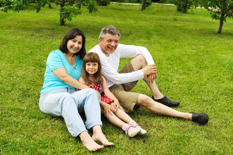 Family outdoors royalty free stock image