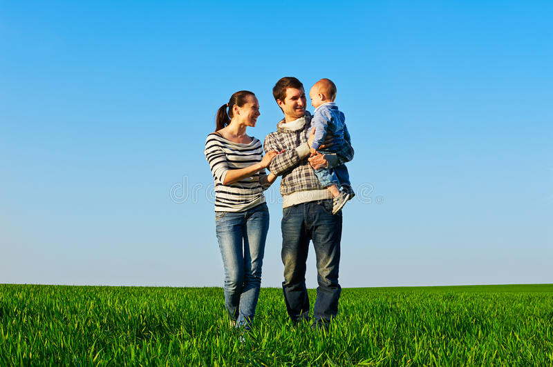 Download Family at outdoors stock photo. Image of happiness, baby - 30695152