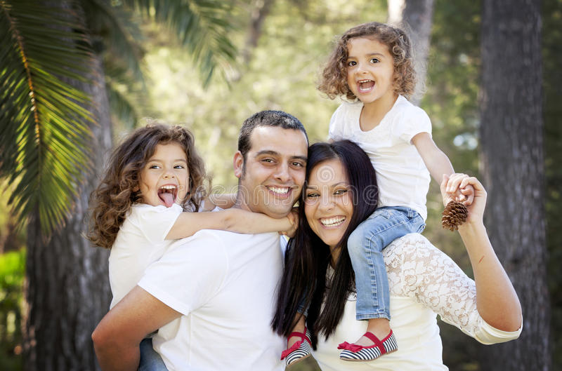 Family. Parents and children happy hispanic or latin american family