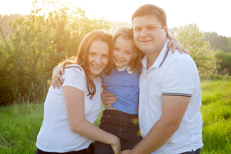 Family in the park stock photos