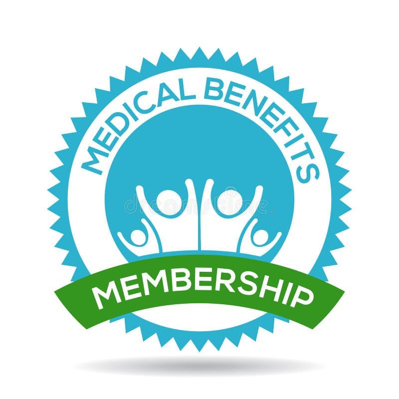 medical benefits membership seal vector illustration stock vector rh dreamstime com Blue Seal Logo Texas State Seal Vector Art