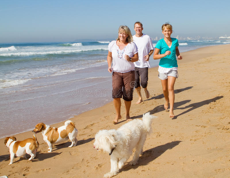 Family and pet stock image