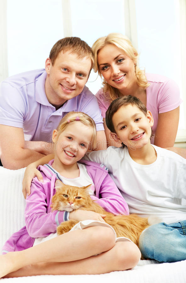 Download Family with pet stock image. Image of brother, adult - 18591597