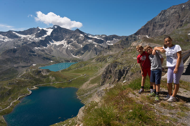 Download Family Photo At Nivolet Pass In Orco Valley Stock Photo - Image: 33601228