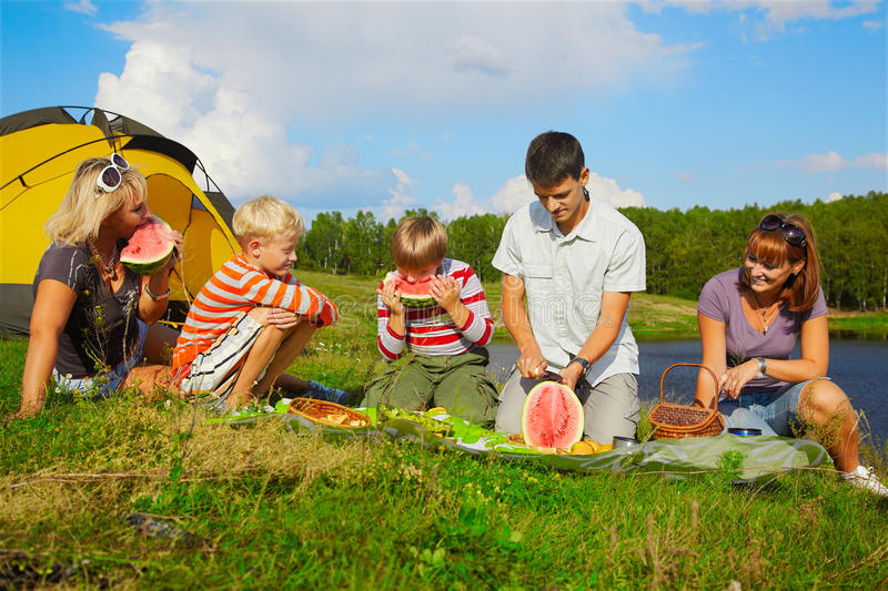 Download Family picnic stock photo. Image of leisure, family, meal - 18871158