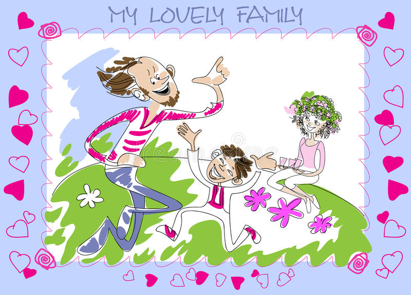 Family On A Picnic Royalty Free Stock Images