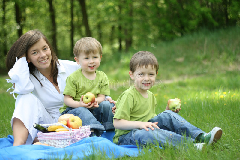 Download Family picnic stock photo. Image of male, brothers, kids - 2367064