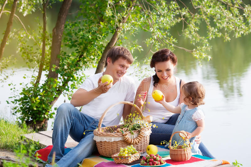 Family on picnic royalty free stock image