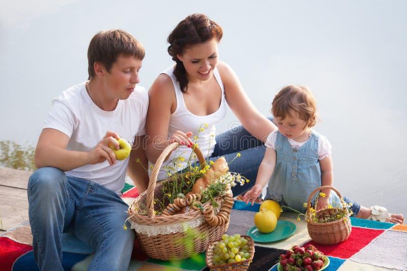 Family on picnic royalty free stock photo