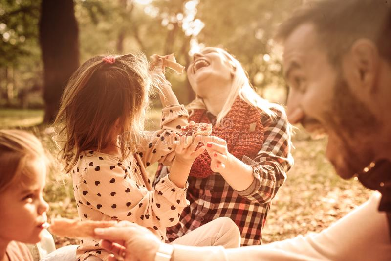 Family picnic is always fun. royalty free stock photo