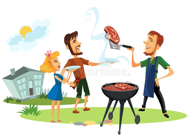 Family Picnic summer holidays people vector illustration
