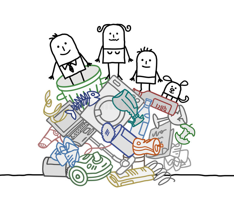 Download Family On A Pile Of Garbage Stock Vector - Image: 33942803