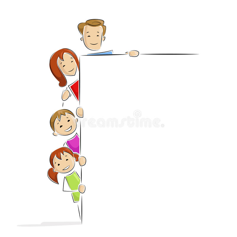 Download Family with Placard stock vector. Illustration of background - 24811036