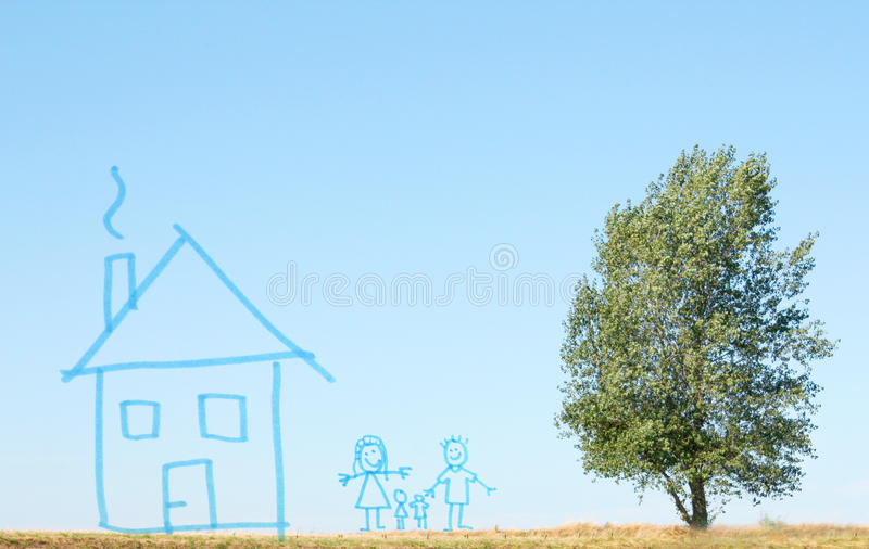 Family Plans Royalty Free Stock Images