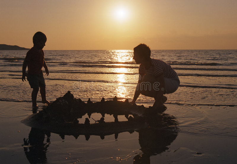 Download Family play on a beach stock photo. Image of children, couple - 984634
