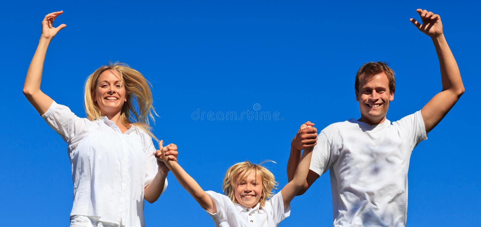 Download Family Playing In The Garden Stock Photo - Image: 9344314