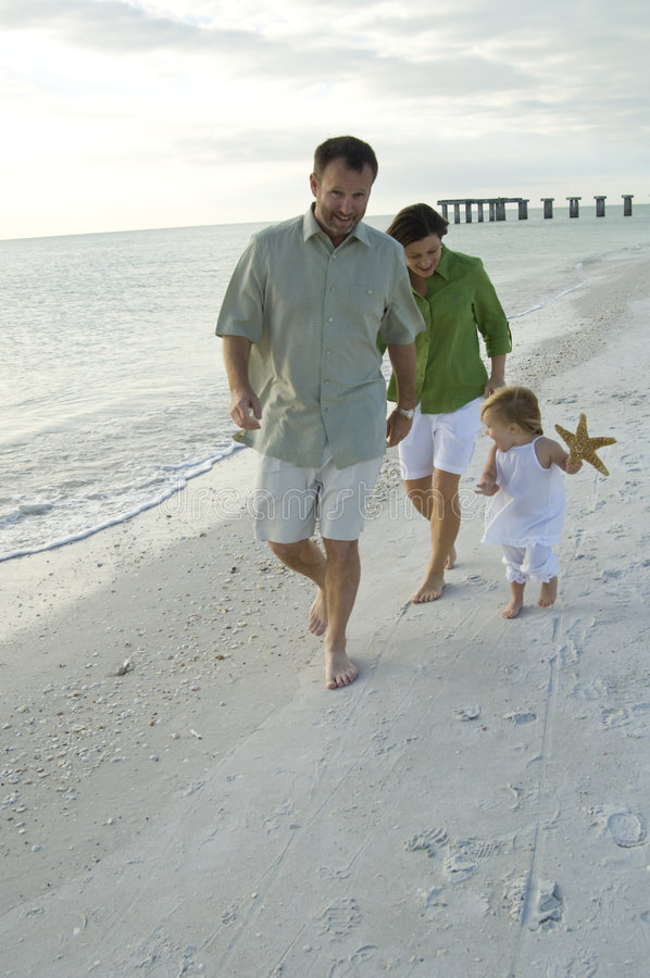 Free Family Playing On Beach Royalty Free Stock Photography - 8194917