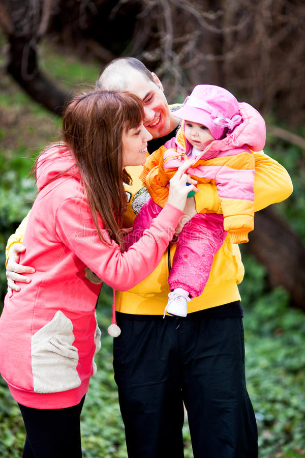 Download Family playing outdoors stock photo. Image of people - 13057920