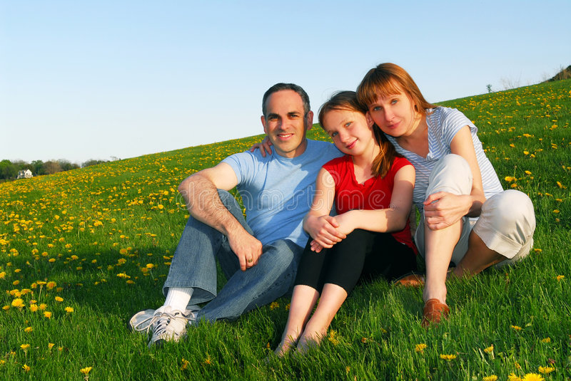 Family portrait royalty free stock photography