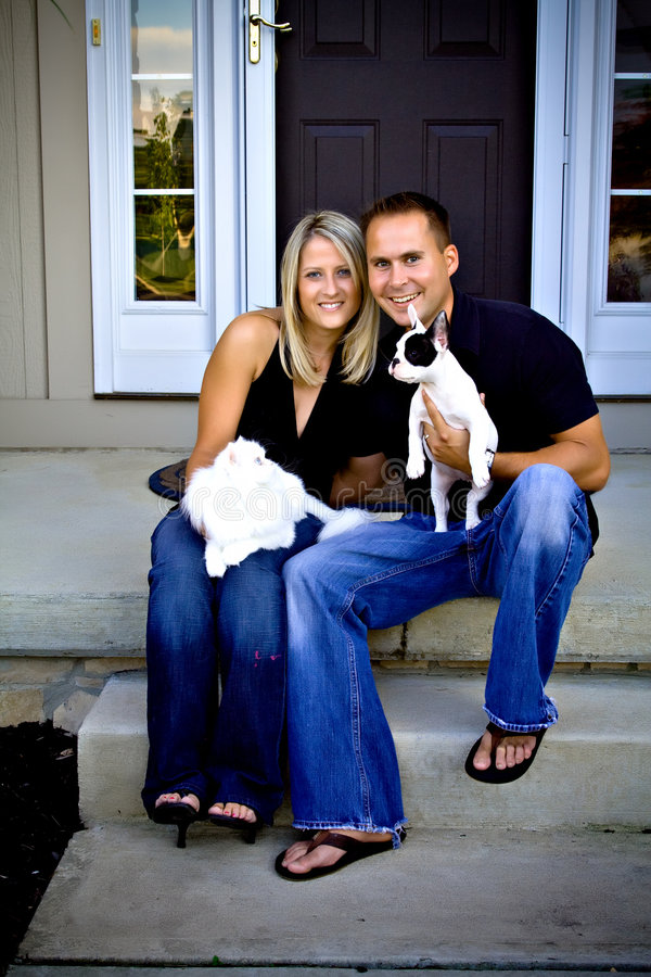 Download Family Portrait stock image. Image of bulldog, couple - 6534215