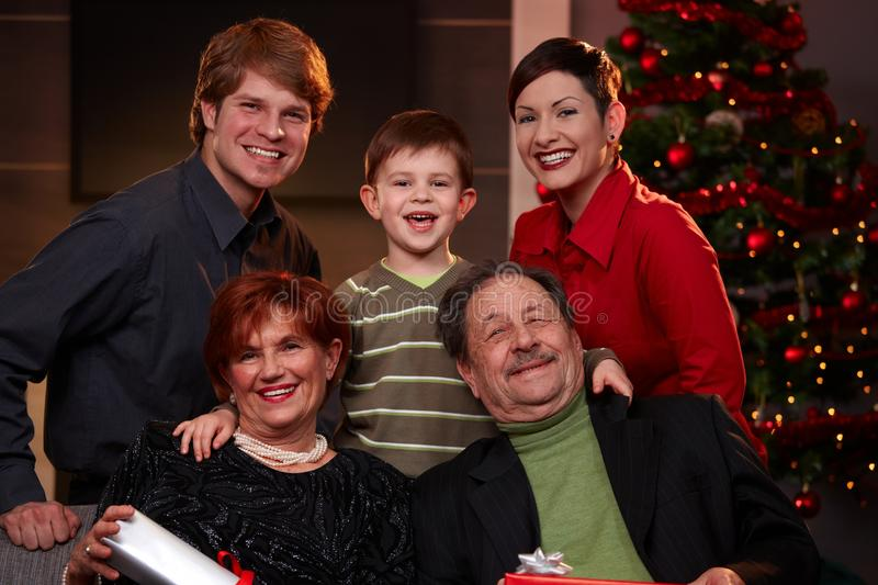 Download Family Portrait At Christmas Royalty Free Stock Images - Image: 27468539