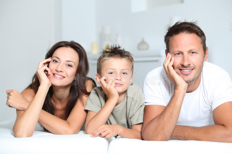 Download Family portrait at home stock photo. Image of eyes, complicity - 16281478