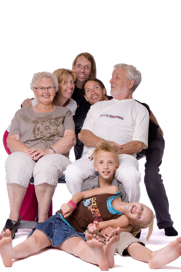 Free Family Portrait Of A Crazy Bunch Stock Image - 6360921