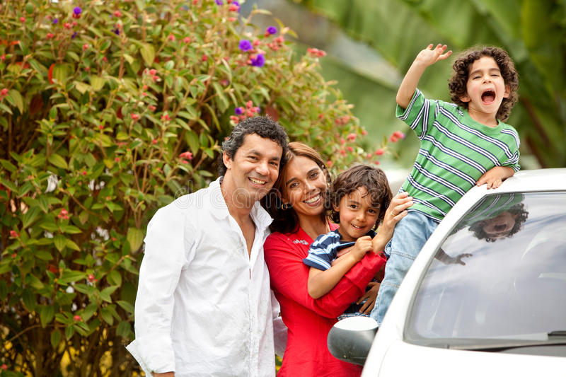 Download Family portrait outdoors stock image. Image of excitement - 10939207