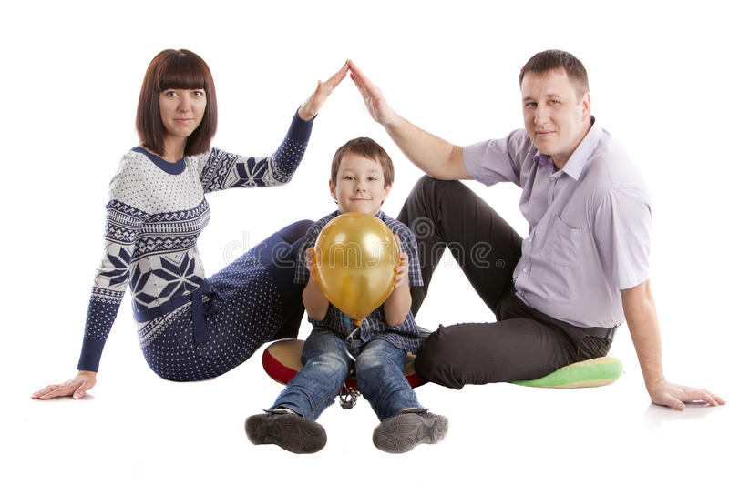 Download Family posing stock photo. Image of portrait, real, affectionate - 24287898
