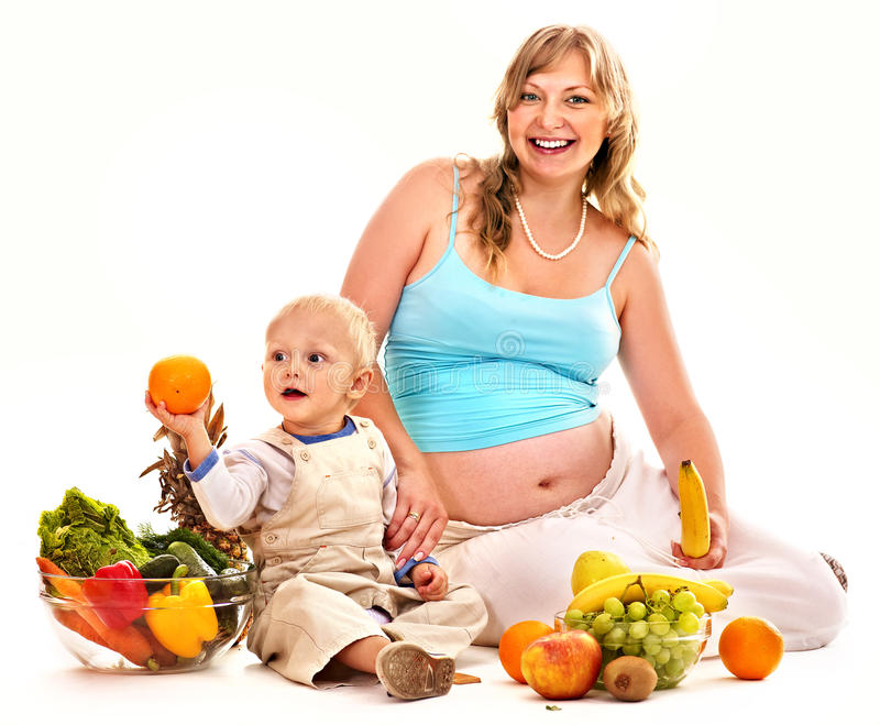 Download Family Pregnant Woman Preparing Food . Stock Images - Image: 38714274
