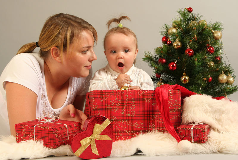 Download Family with presents stock image. Image of boxes, colourful - 21768009