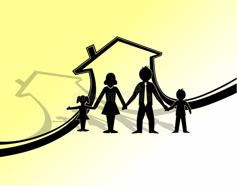 Download Family protection symbol stock vector. Illustration of mortgage - 21998597