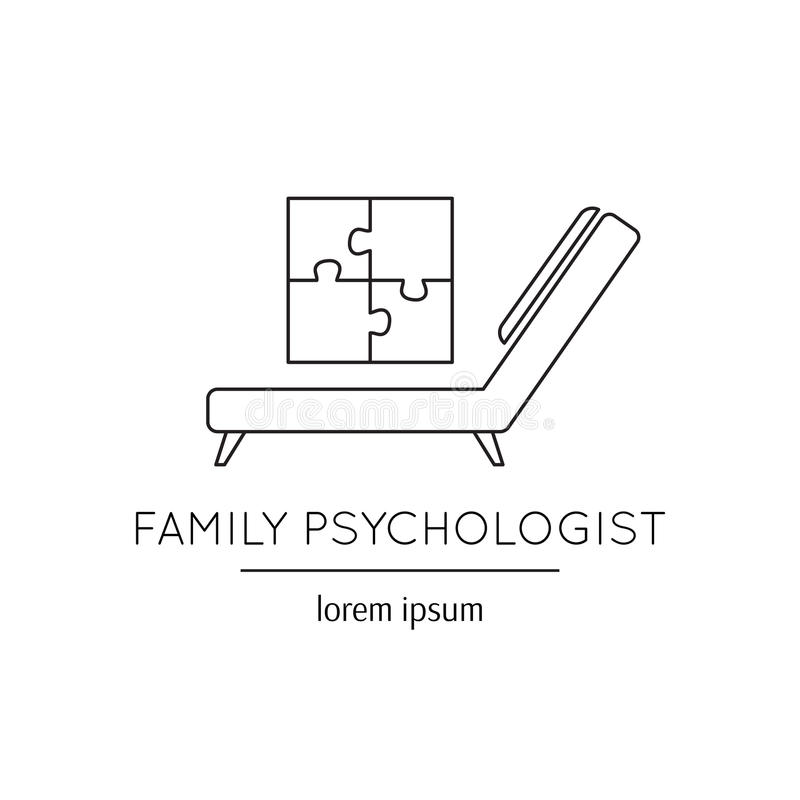 Family psychologist line icon vector illustration