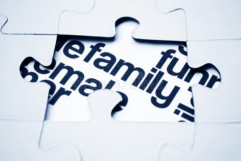 Download Family Puzzle Concept Stock Photo - Image: 27087180