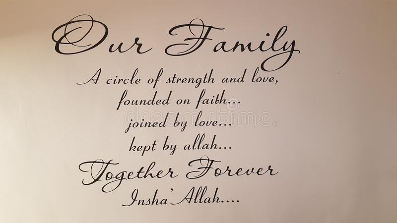 Family Quote Prayer Together Forever Stock Image - Image of ...