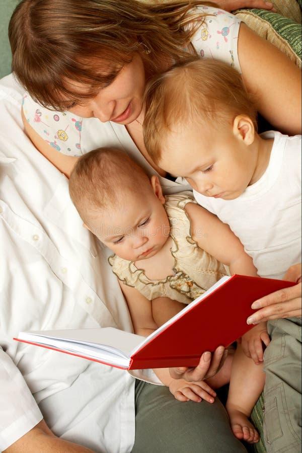 Family reading royalty free stock image