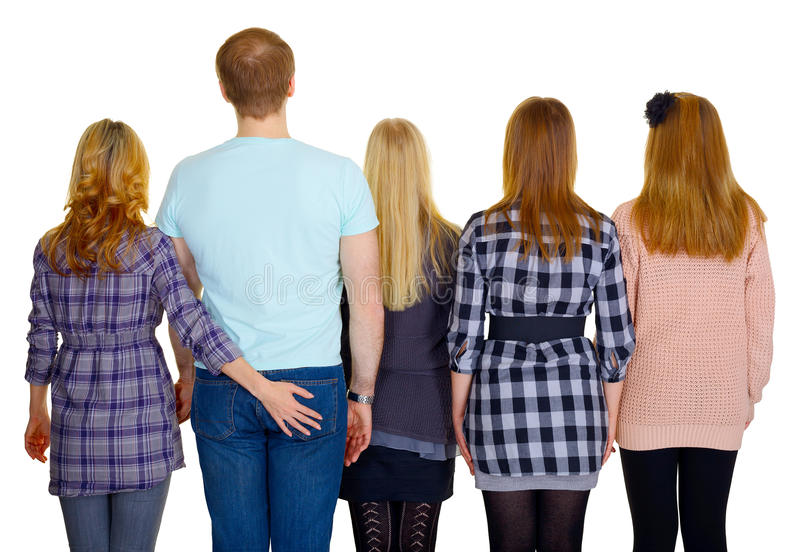 Download Family - Rear View Stock Image - Image: 26332691