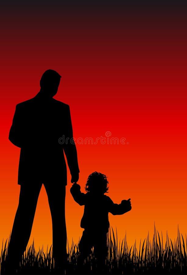 Family relations vector illustration