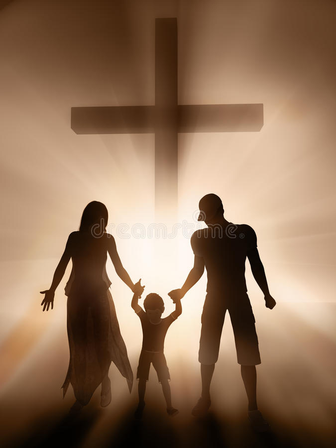 Family, religion stock photo