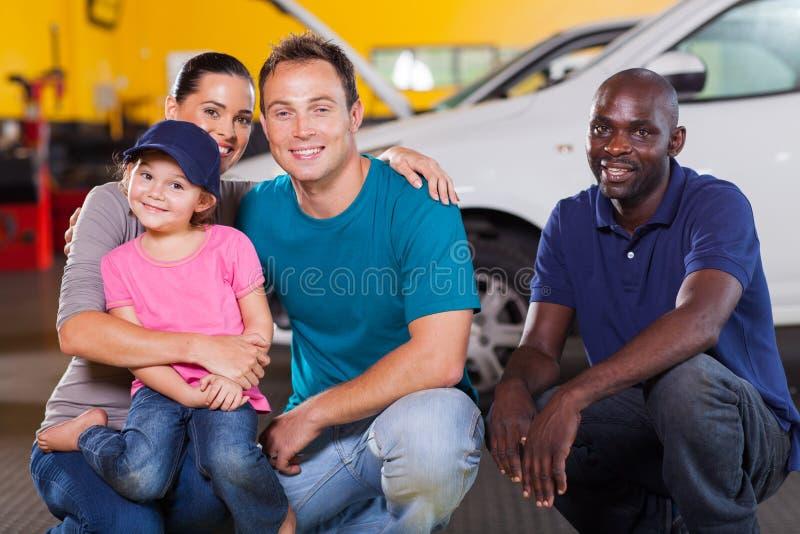 Family repair shop royalty free stock photo