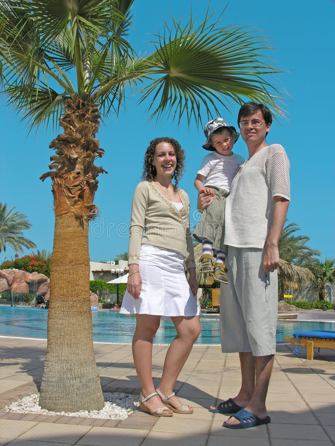 Download Family on the resort stock photo. Image of beauty, recreational - 2618670
