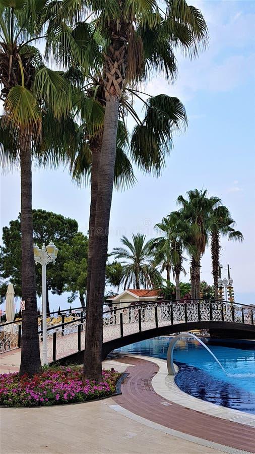 Family resort in Kemer, Mediterranean sea, Turkey royalty free stock photography