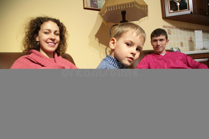 Family rest in room stock photography